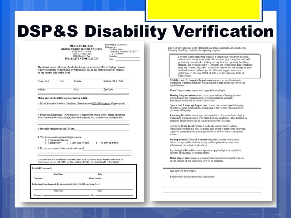 DSP&S Consent Form