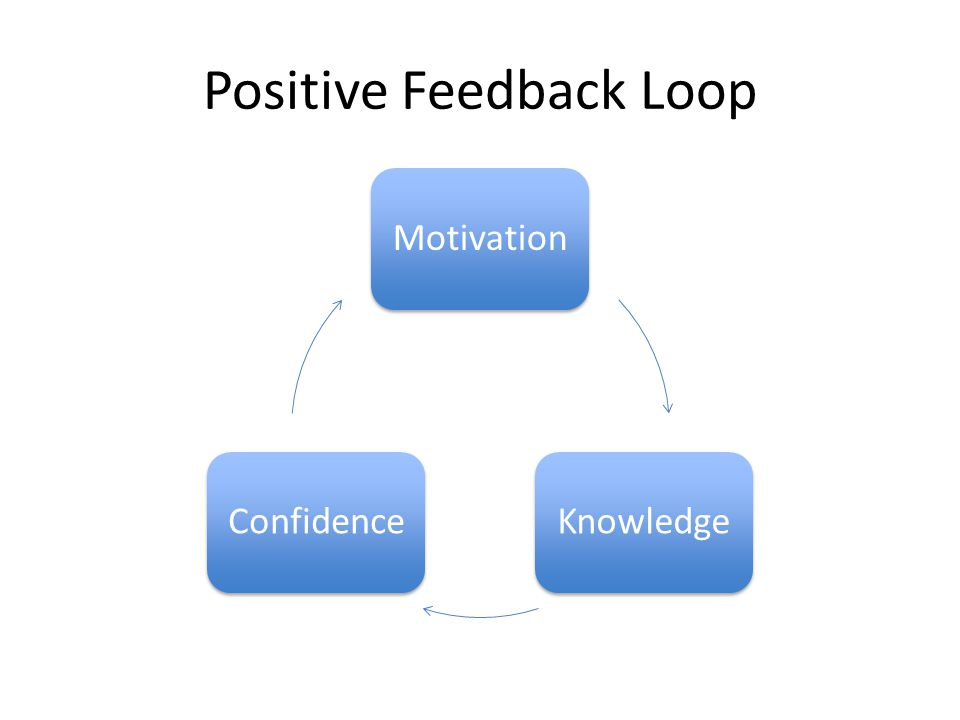 Positive Feedback Loop MotivationKnowledgeConfidence