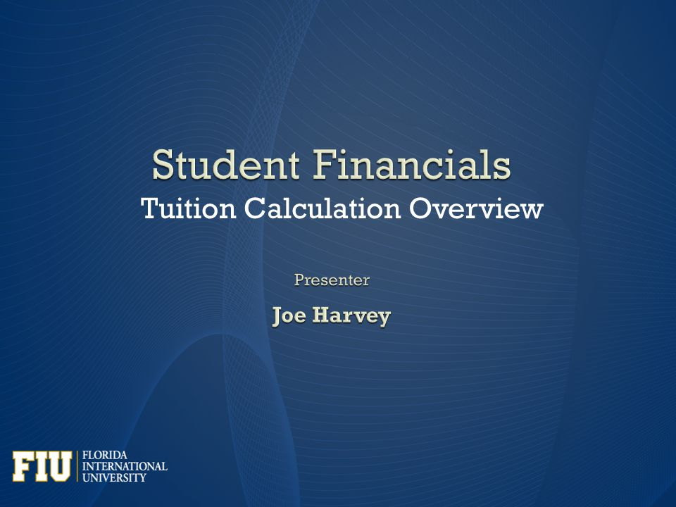 Tuition Calculation Overview