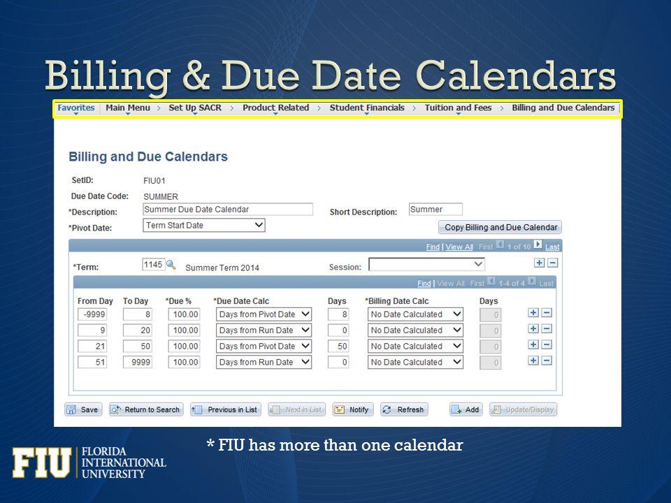 * FIU has more than one calendar