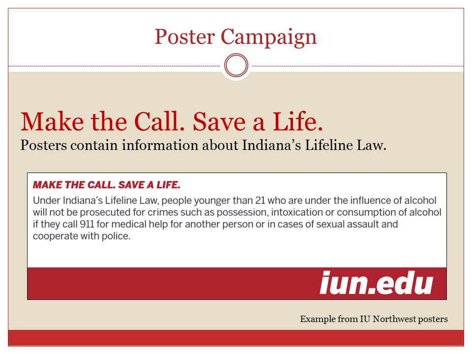 Poster Campaign Make the Call. Save a Life.