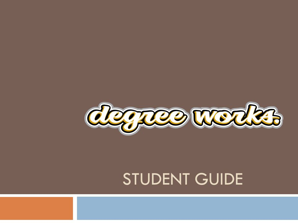 The DegreeWorks options tabs, located across the top of the Introductory page, include the Worksheets tab, the Planner tab, and the GPA Calculator tab.