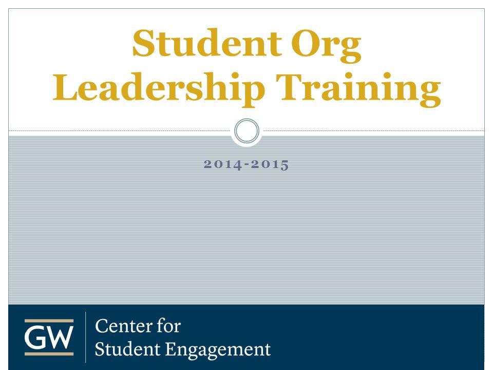 2014-2015 Student Org Leadership Training