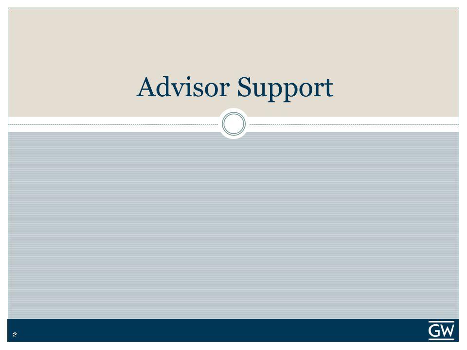 22 Advisor Support