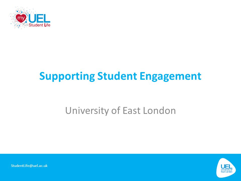 Introductions John Joe Mulherin Student Experience Manager SLHD@uel.ac.uk
