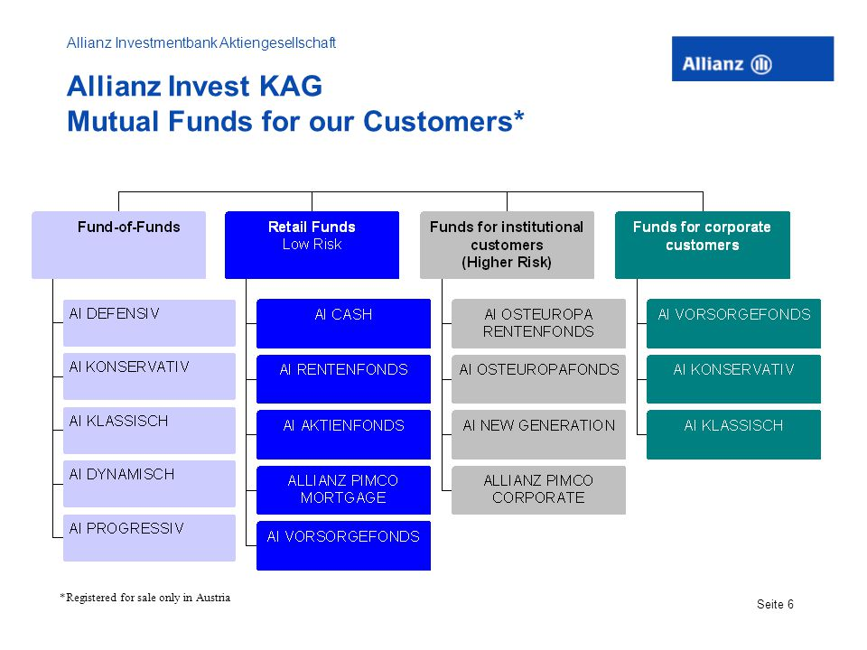 Allianz Investmentbank Aktiengesellschaft Seite 7 Allianz Invest Eastern European Equity Fund* Inception Date: 2/20/98 Investment Objective: The Fund´s objective is income and growth.