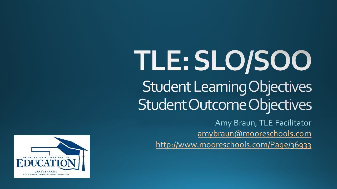 TLE: Teacher Leader Effectiveness Tulsa Model SAG: Student Academic Growth VAM: Value Added Model SLO/SOO: Student Learning Objective/Student Outcome Objective OAM: Other Academic Measures