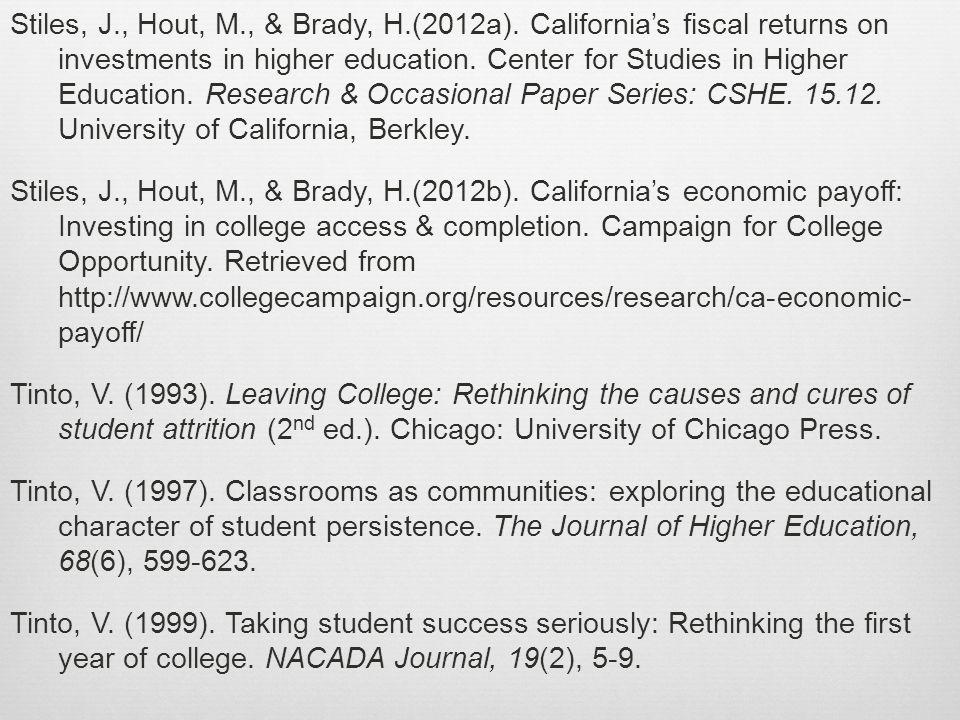 Stiles, J., Hout, M., & Brady, H.(2012a).