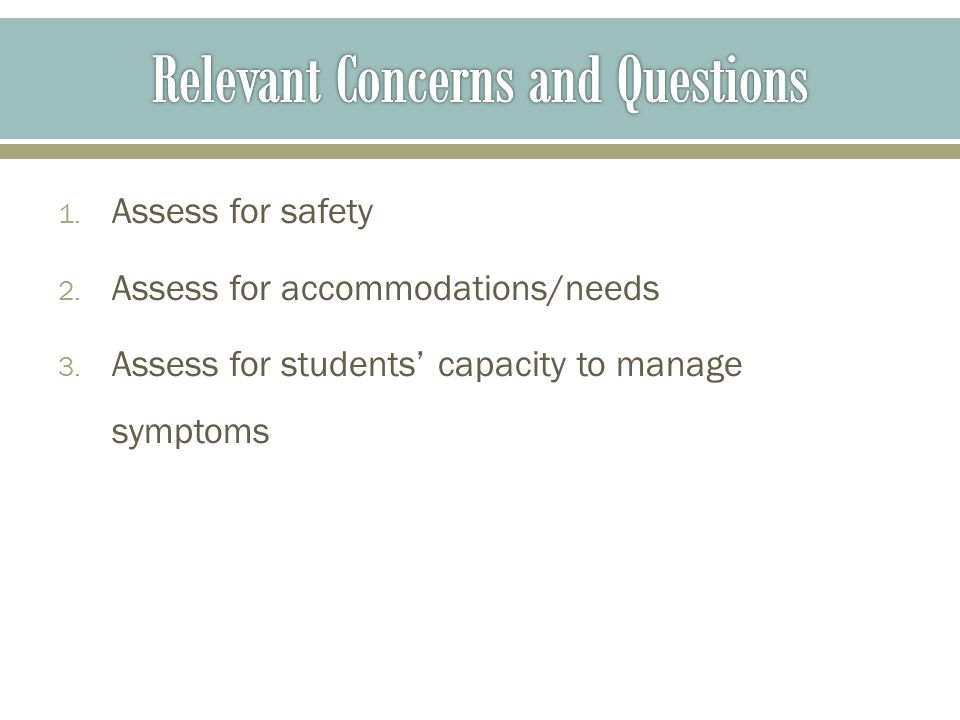 To help students consolidate their strengths and resources before going.