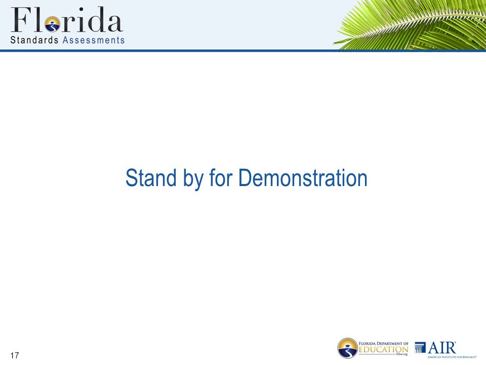 Stand by for Demonstration 17