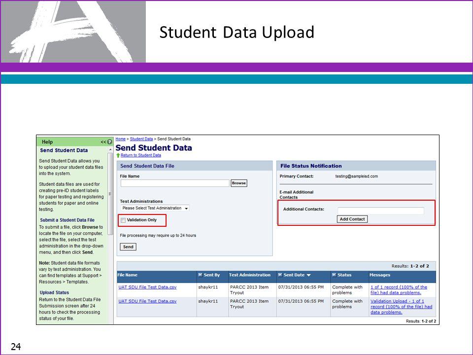Student Data Upload 24