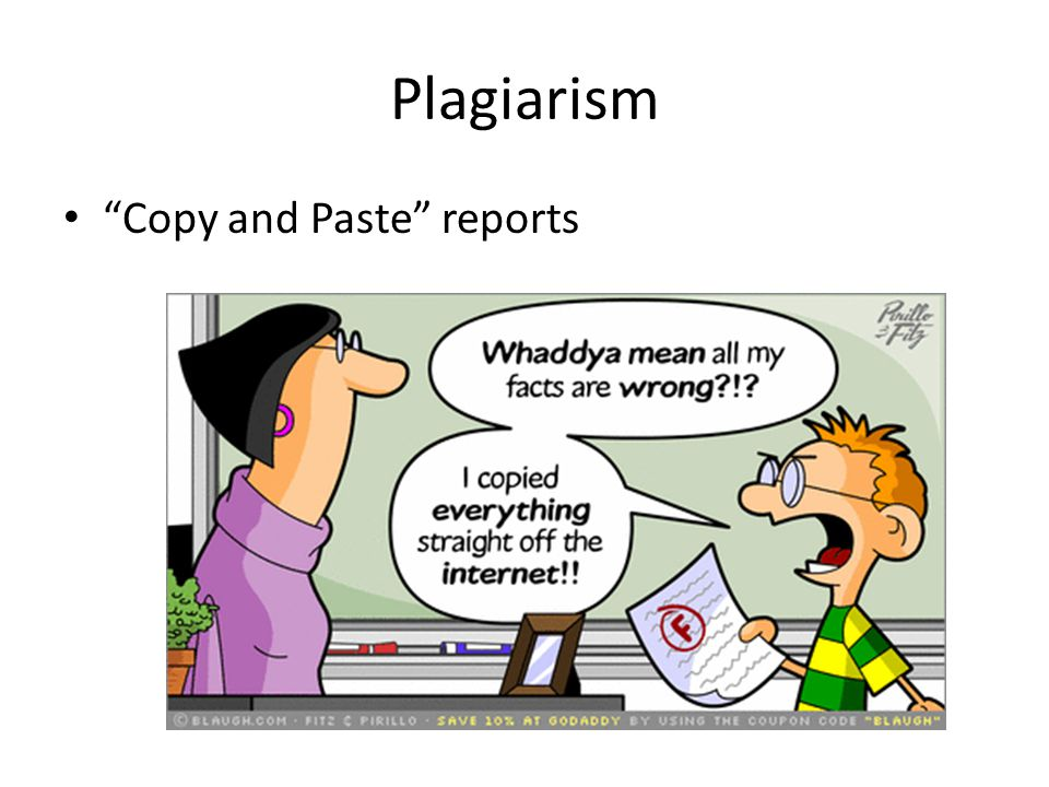 Plagiarism Copy and Paste reports