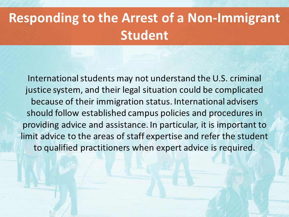 International students may not understand the U.S.