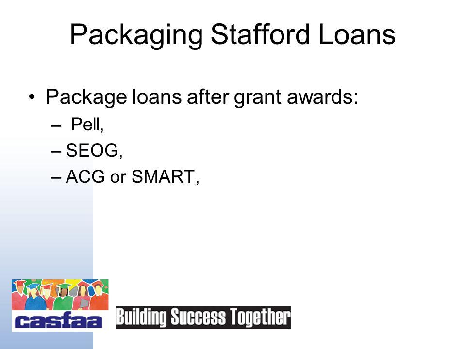 "Stafford Loan Amounts As of 7/1/08 Academic Grade Level Base Loan Amount ""Additional"" Unsub Amt* Freshman$3,500 plus $2,000 in Unsub $4,000 Sophomore$"