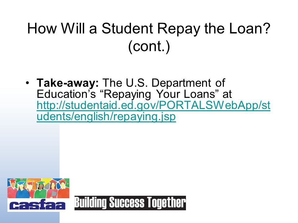 Take-away:   A service of the Project on Student Debt.