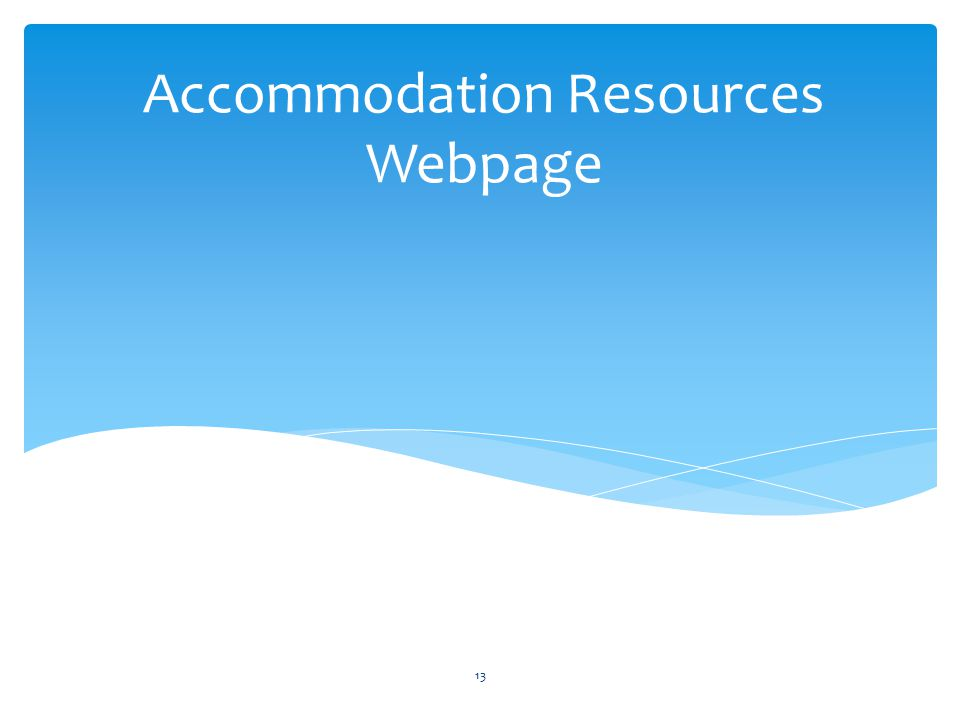 Accommodation Resources Webpage 13