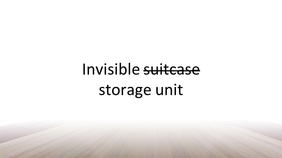 Invisible suitcase storage unit