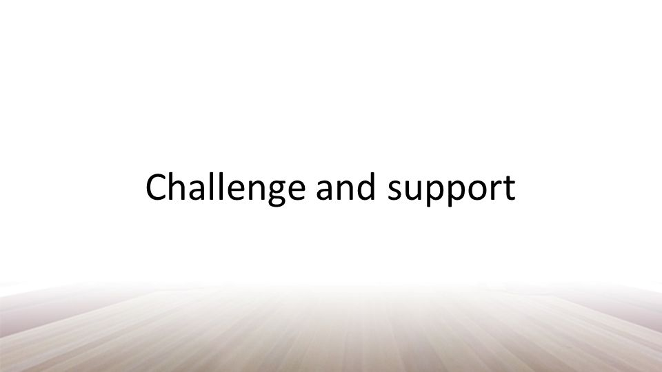 Challenge and support