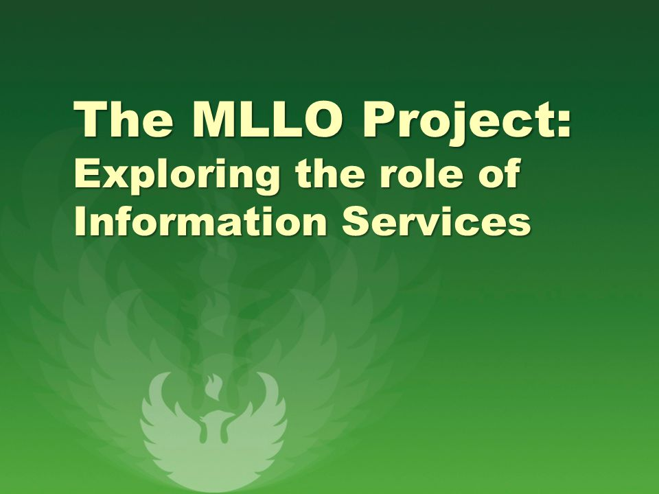 The MLLO Project: Exploring the role of Information Services