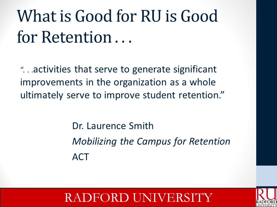 Helping Students Find Success RADFORD UNIVERSITY