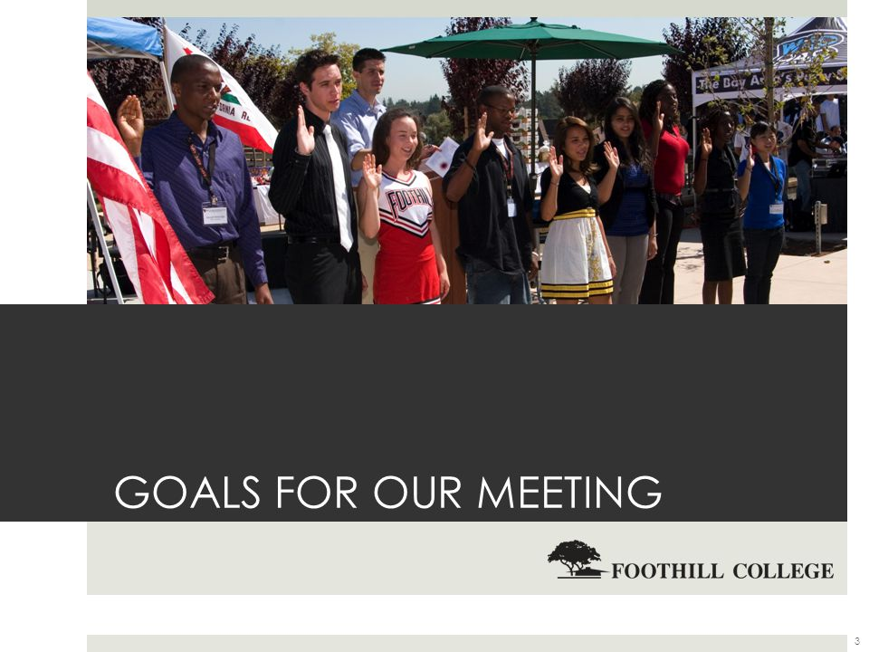 GOALS FOR OUR MEETING 3