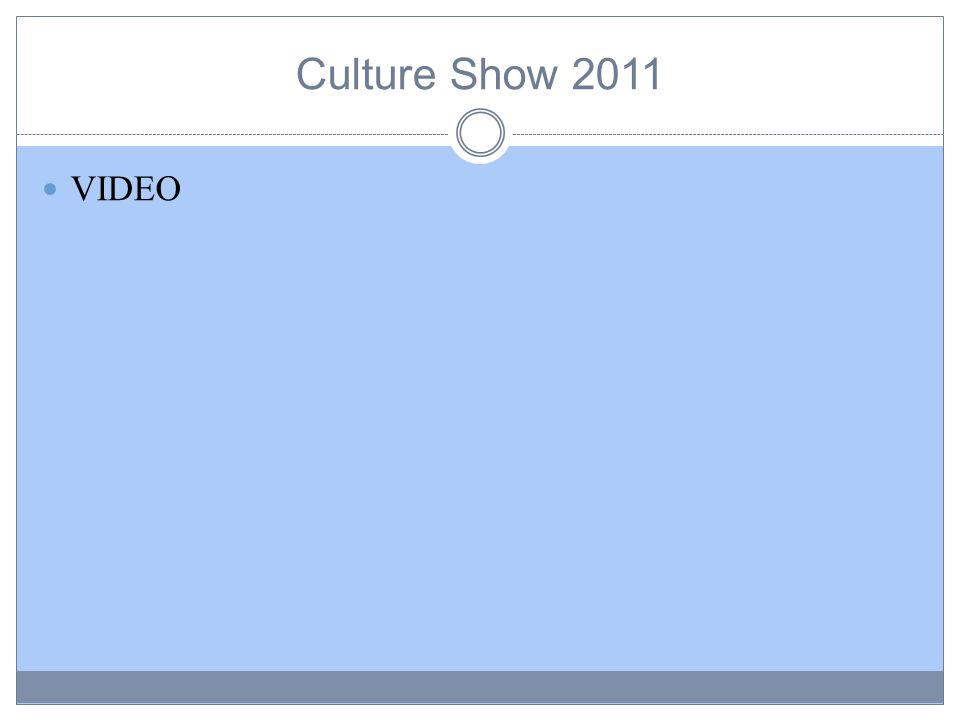 Culture Show 2011 VIDEO