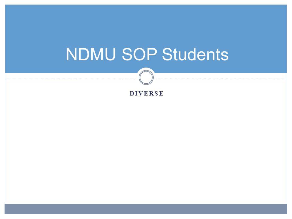 NDMU SOP Students DIVERSE