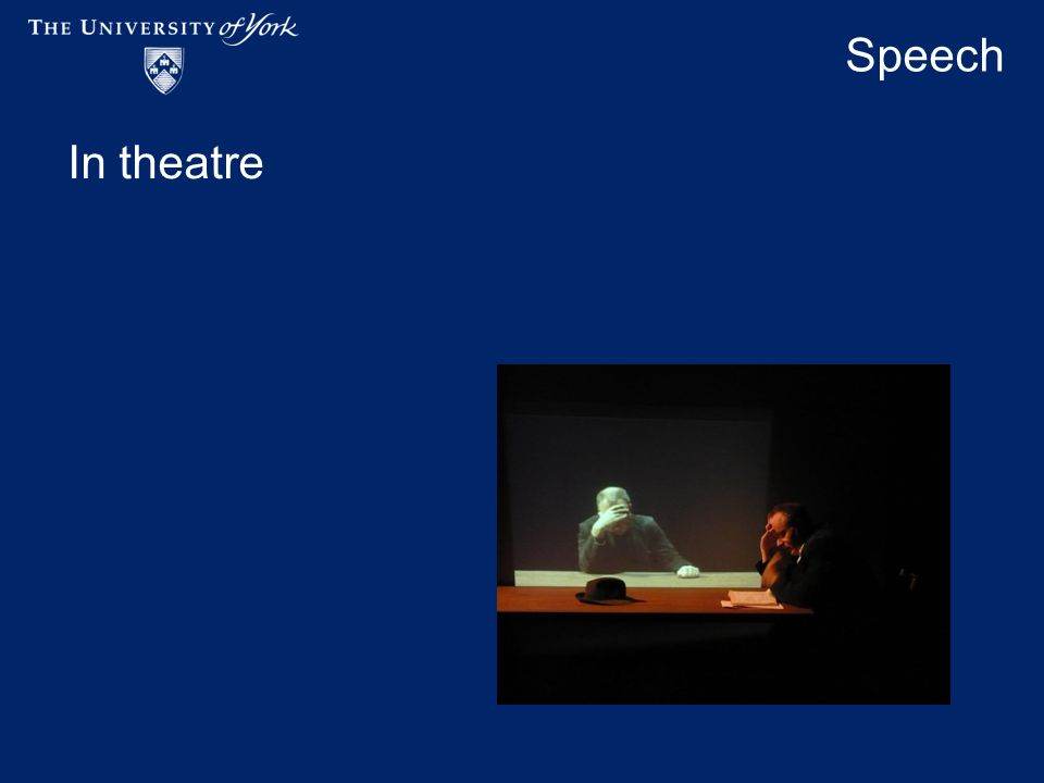 Speech In theatre
