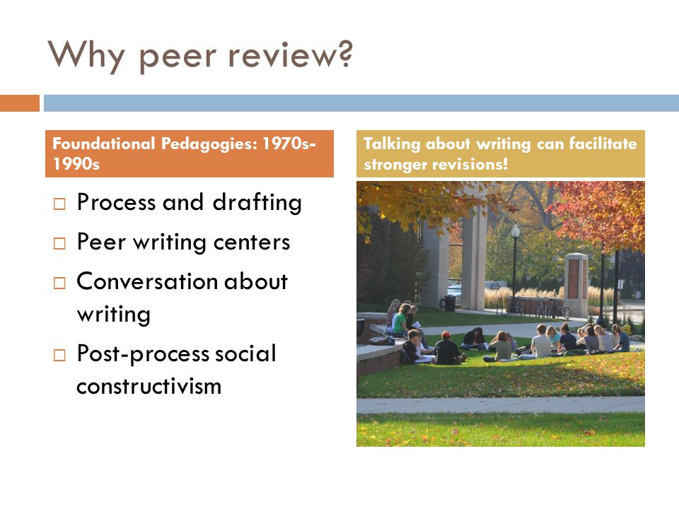 Why peer review.