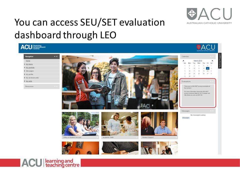 You can access SEU/SET evaluation dashboard through LEO