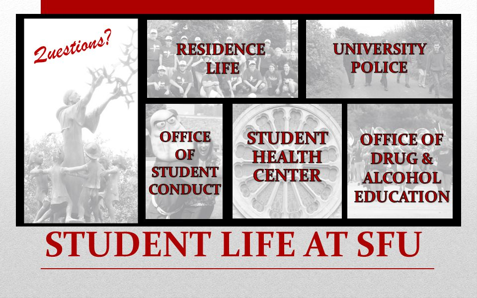 STUDENT LIFE AT SFU Questions?
