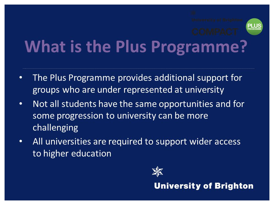 What is the Plus Programme.