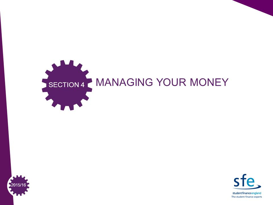 2015/16 MANAGING YOUR MONEY SECTION 4