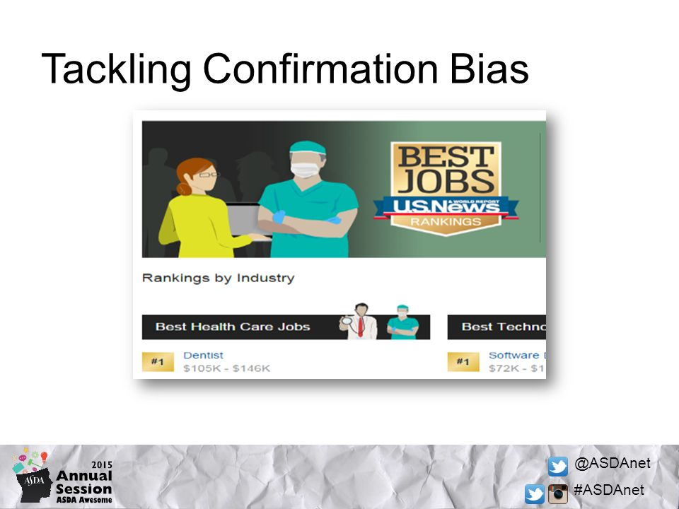 @ASDAnet #ASDAnet Tackling Confirmation Bias