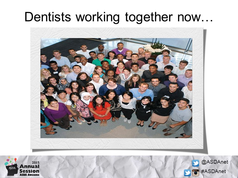 @ASDAnet #ASDAnet Dentists working together now…