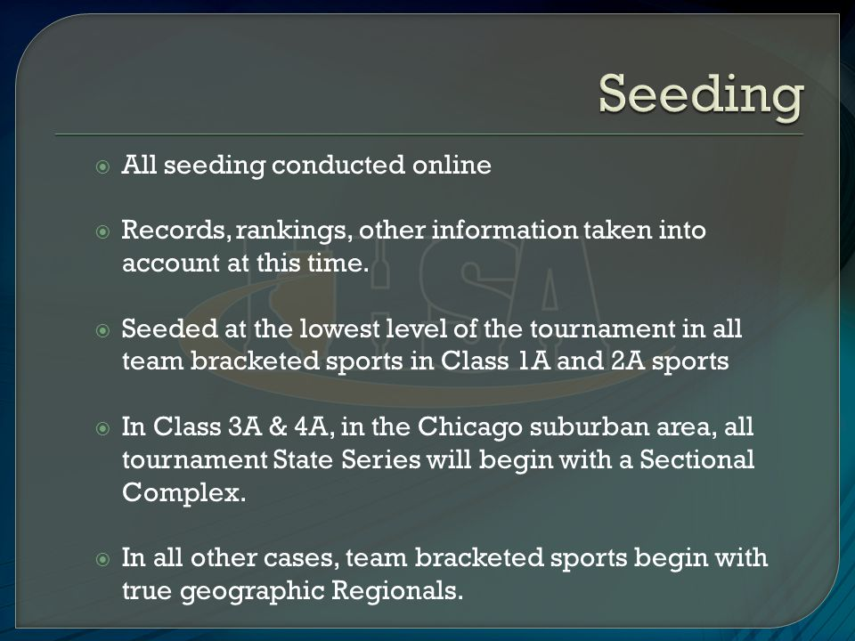  All seeding conducted online  Records, rankings, other information taken into account at this time.
