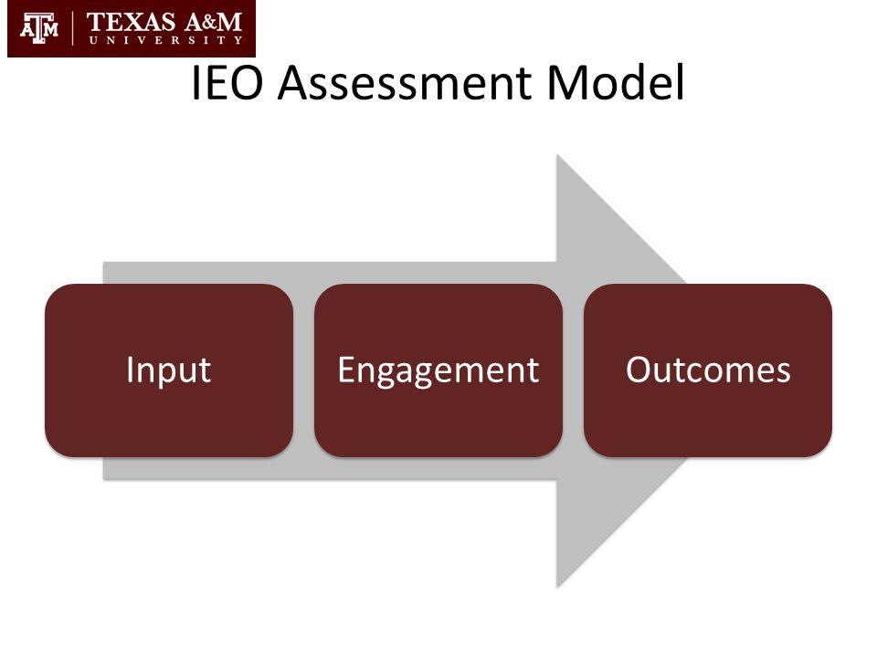 IEO Assessment Model InputEngagementOutcomes