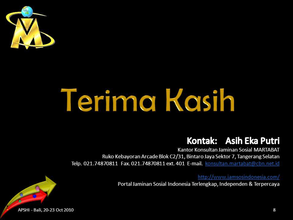 APSHI - Bali, 20-23 Oct 20108
