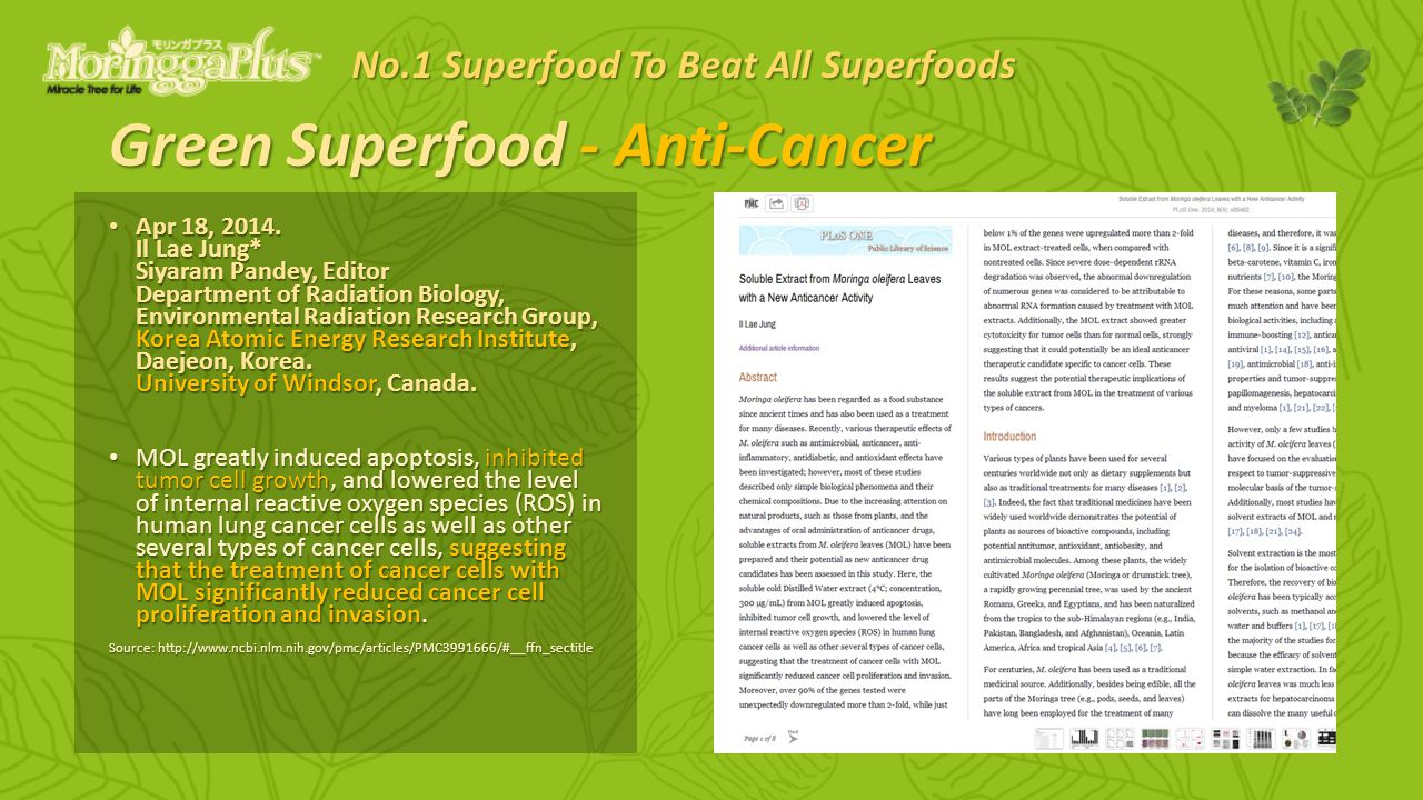 Green Superfood - Anti-Cancer Apr 18, 2014.