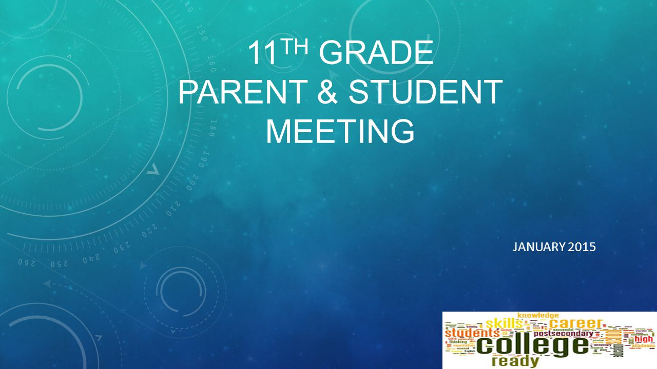 11 TH GRADE PARENT & STUDENT MEETING JANUARY 2015