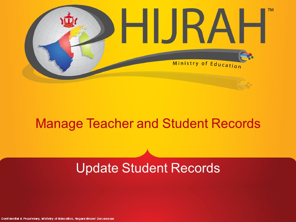 Manage Teacher and Student Records Update Student Records