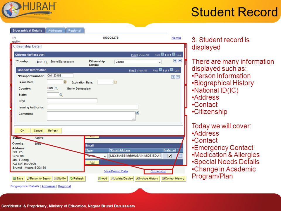 Update Student's Address 1.