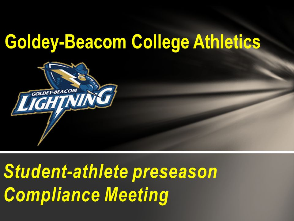Student-athlete preseason Compliance Meeting Goldey-Beacom College Athletics