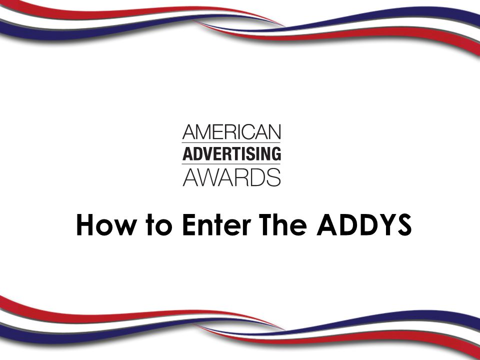 How to Enter The ADDYS