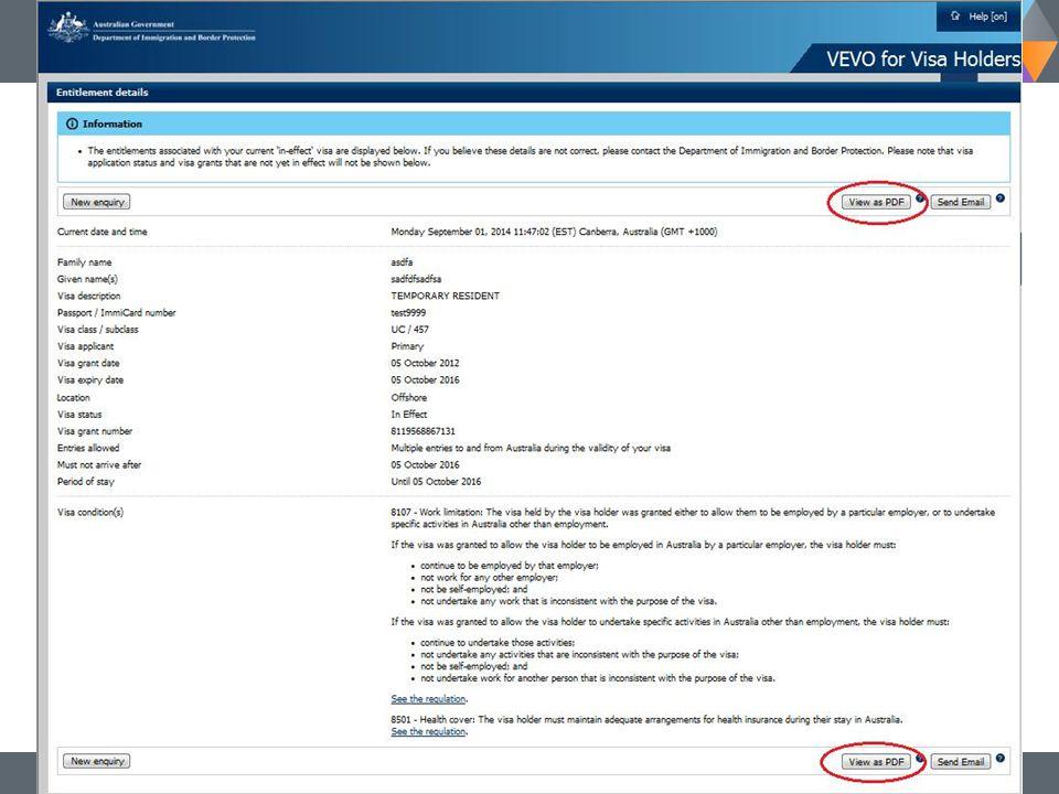 11 Department of Immigration and Border Protection Visa Entitlement Verification Online