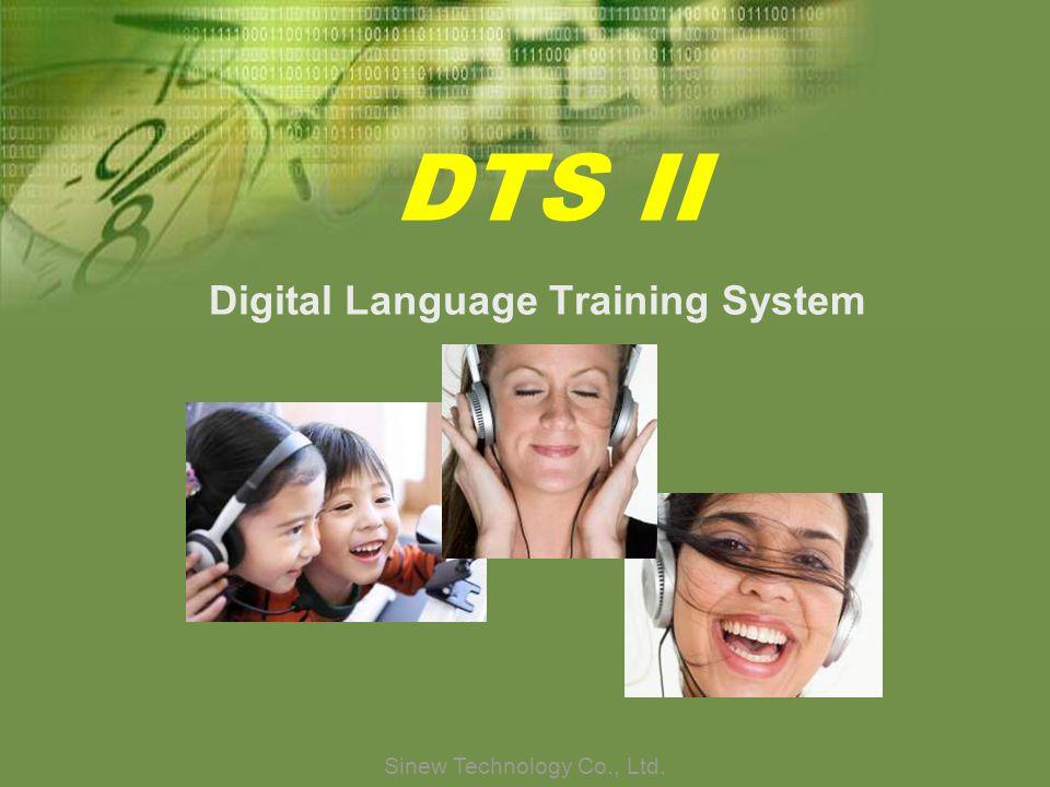 Sinew Technology Co., Ltd. DTS II Digital Language Training System