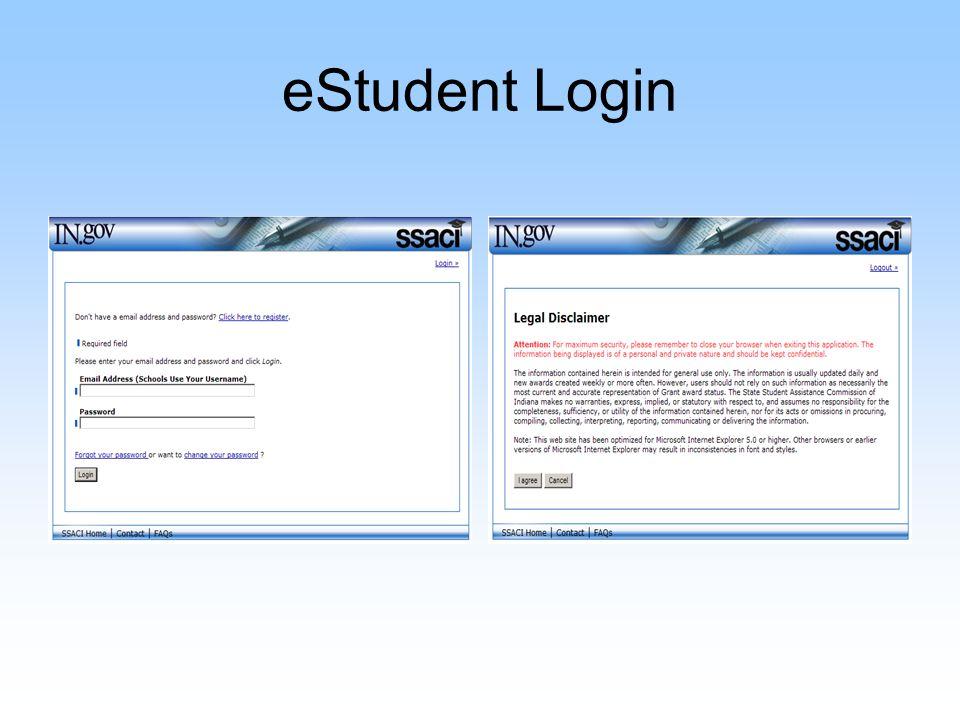 eStudent Login
