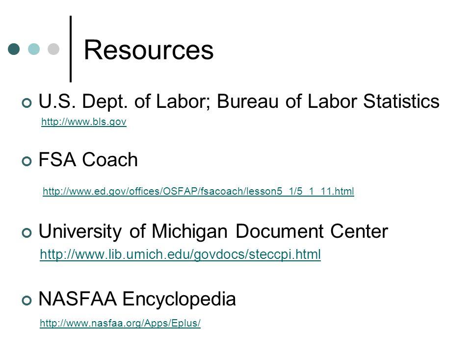Resources U.S. Dept.