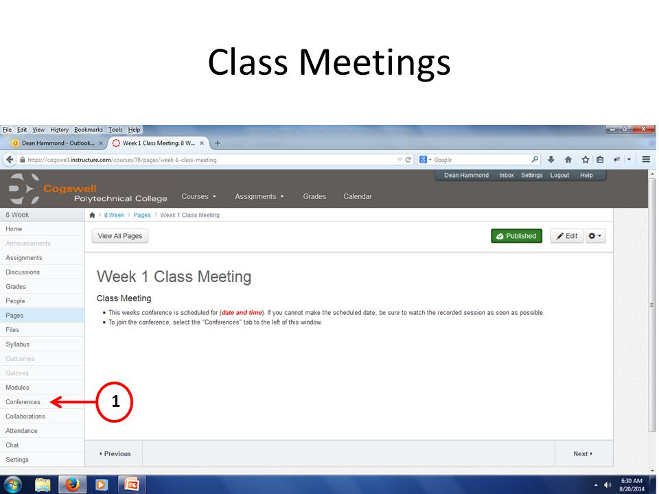 Class Meetings 1