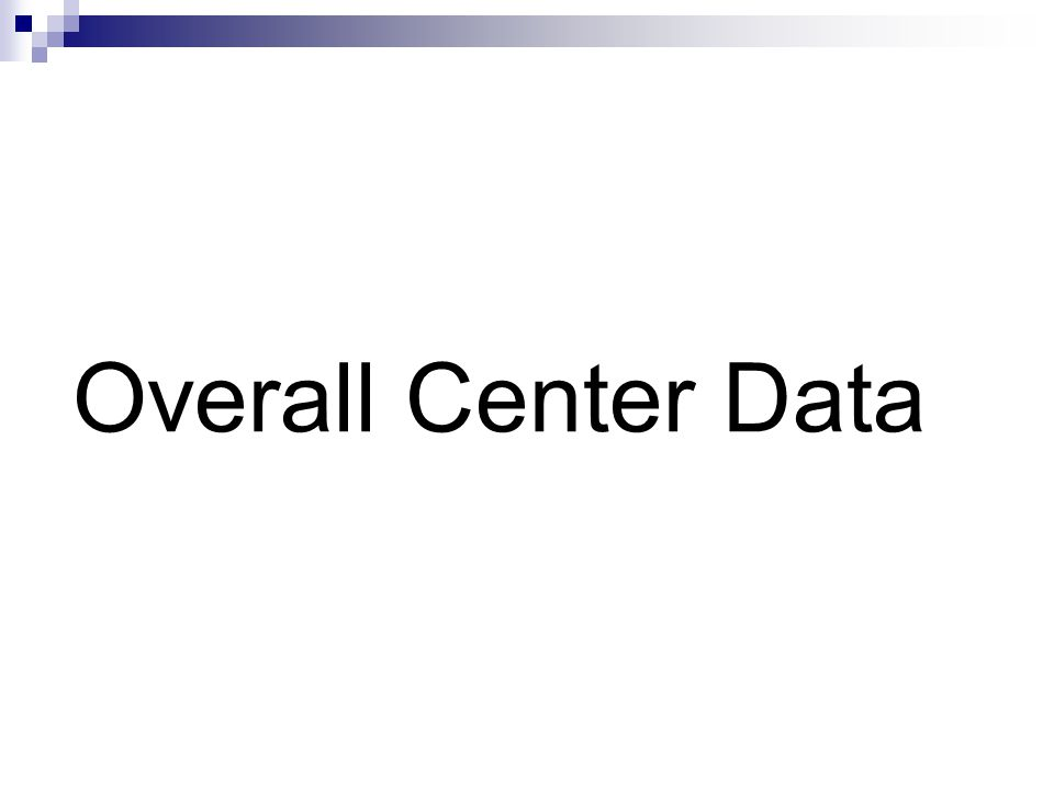 Overall Center Data